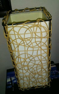 Small wicker table lamp