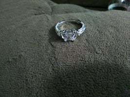 1/2  ct diamond ring on sterling silver