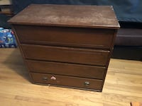 Brown wooden 4-drawer chest New Tecumseth, L7E