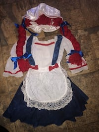 Raggedy Ann costume size 4 to 6 years  Lancaster, 93534