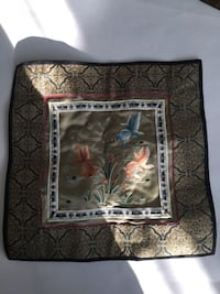 Blue and brown floral photo frame 阿什本, 20148