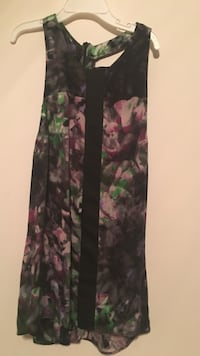 Black, purple, and green floral scoop-neck sleeveless top Falls Church, 22043