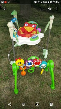 Bouncer for $35, &. Baby play centre $15
