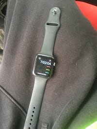 Black apple watch with black sports band Toledo, 43609