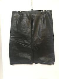 Leather High Rise Skirt