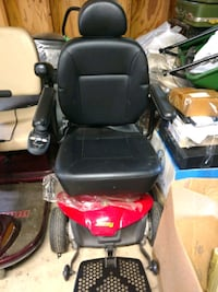 black and red motorized wheelchair Houston, 77075