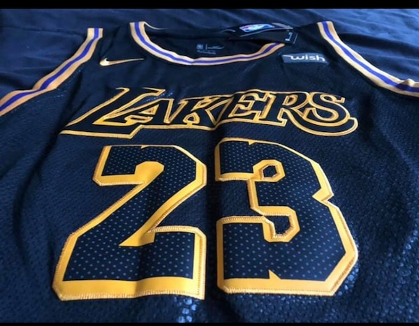 b9b37c63cad Used NIKE LEBRON JAMES LA LAKERS JERSEY SIZE LARGE for sale in Raleigh -  letgo