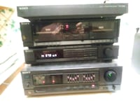 black and gray stereo component DeBary, 32713