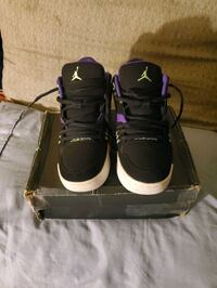 (Kids)Air Jordan Flight 23-Black/Ultraviolet Green Long Beach, 90804