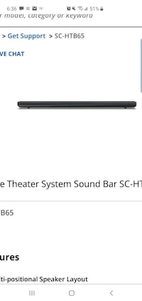Panasonic SC-HTB65 Soundbar and Remote  Las Vegas, 89122