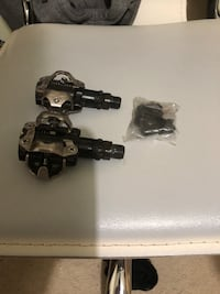Shimano SPD bike pedals with cleats Newmarket