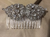 Bridal Rhinestone Crystal Hair Comb - Formal Jewelry Headpiece Boston, 02215