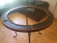 used glass round table with patio couch  Saskatoon