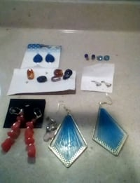 assorted color beaded earrings lot