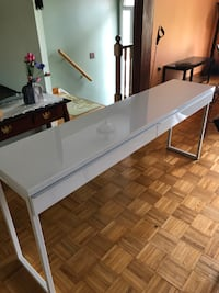 Mint Condition IKEA Long White Table w/ 2 Drawers! Pickup Only! TORONTO