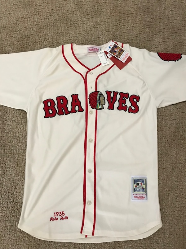 pretty nice 5cf9e 6afdf Braves Babe Ruth Jersey new with tags