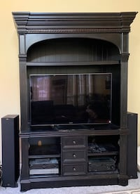 Black distressed entertainment center Boise, 83713