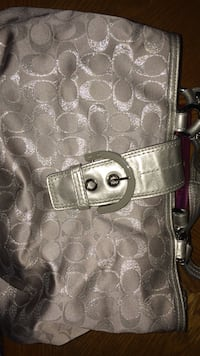 Coach purse silver double-handle jacquard Hyattsville, 20782