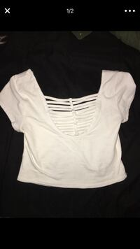 white cropped top - cut outs in the back - size Small/Medium El Cajon, 92021