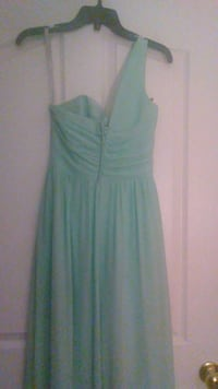 Turquoise One Shouldered Bridesmaid Dress Charlotte, 28202