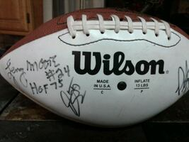 Autographed Baltimore Colts Football