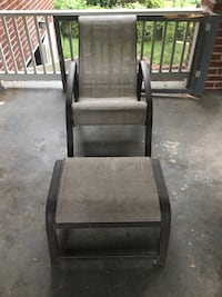 Black and gray metal chair Hyattsville, 20781