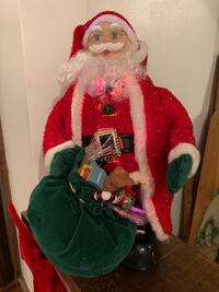 Santa with fiber optic's and Music Myrtle Beach, 29588
