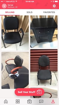 black leather padded rolling chair Stockton, 95219