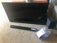 55 in LCD LED smart TV with sound bar and subwoofer