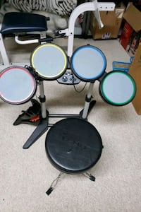 Rock band drum set with seat Coquitlam, V3J 3T5