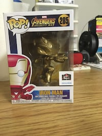 Gold Chrome Iron Man Funko Pop Custom Brampton