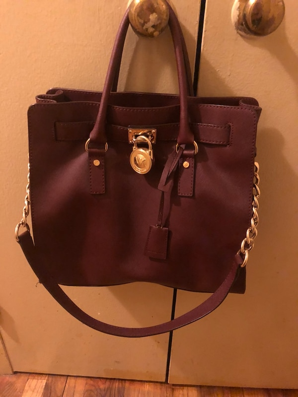 fb03c66893a1 Used Women s burgundy Michael Kors leather 2-way bag for sale in New ...