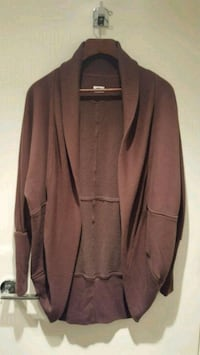 Brown Aritzia Wilfred Diderot cocoon sweater Vancouver