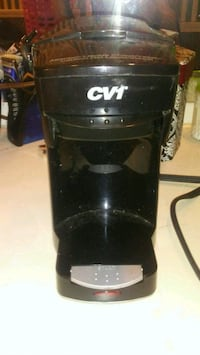 black and gray cv1 one cup coffeemaker Wellford, 29385