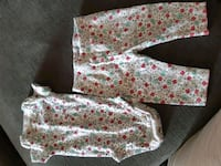 white and pink floral long-sleeved dress Barrie, L4N 2J9
