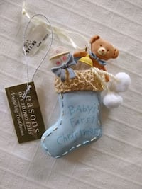NWT baby's first Christmas ornament