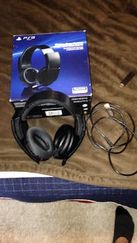 black Sony PS3 wireless headset with box Centre Wellington, N1M 3P2