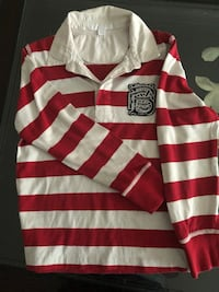 Burberry striped long  sleeve  polo boy's size  8,  Mississauga, L5L 2S5