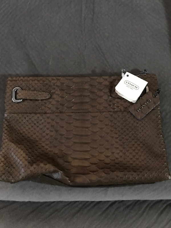 def1917b0754 Used brown Coach python embossed leather handbag for sale in Maywood ...