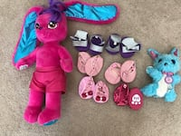 Build-a-bear stuffy, 6 pairs of shoes & Luv-a-scruff stuffy 2253 mi