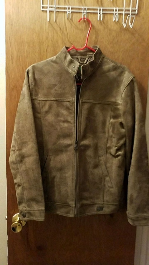 Used Mens Light Brown Suede Jacket Size Small For Sale In Clifton