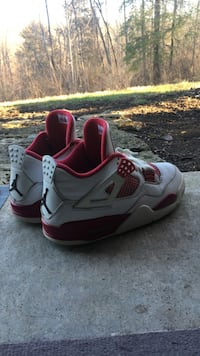white and red air jordan 4 retro Indianapolis, 46256
