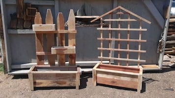 Red wood planters all sizes available. 3FT L