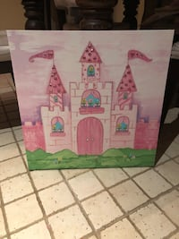 Hanging painting castle canvas girls room Georgetown, L7G 6M6