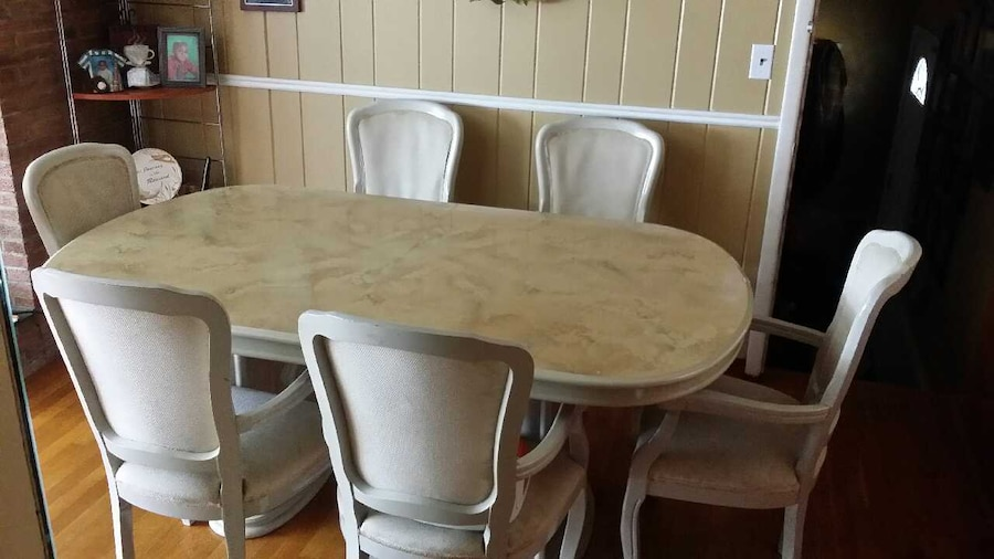 Used Used 7 Piece Italian Made Dining Room Set In