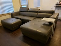 Faux Leather Sectional with Ottoman and Side Table Irving, 75039