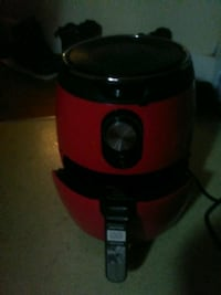 Red air fryer with directions only used 2 times brand new