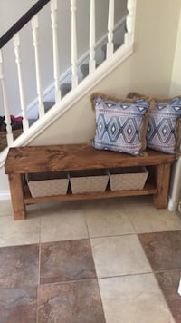 Handcrafted solid wood entrance bench  Calgary, T2W 2W6