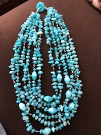 Barse Turquoise colored multi strand Quarts chip necklace Pelham, 03076