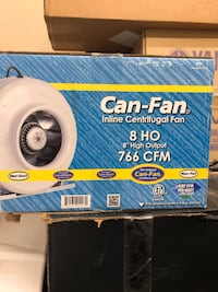 """Can-Fan inline 8"""" high output for indoor growing of any type plant. Henderson, 89012"""